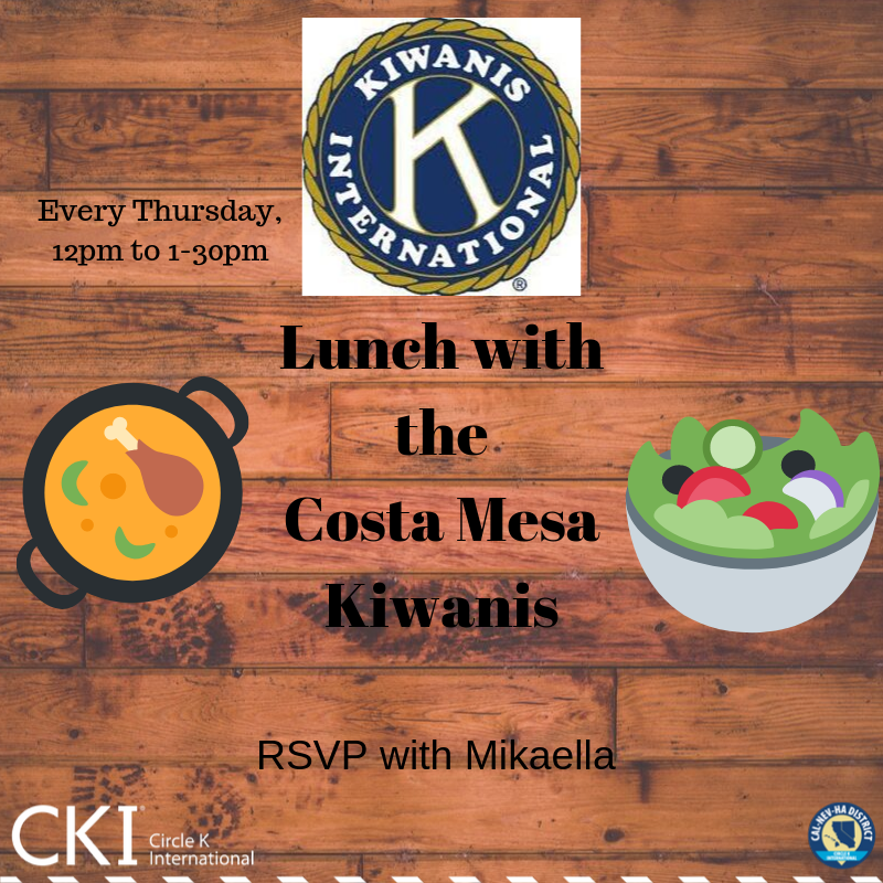 Have lunch with the Costa Mesa Kiwanis